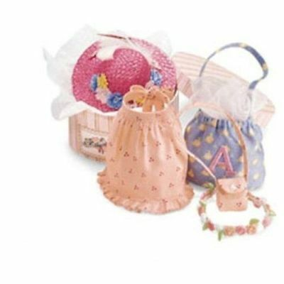 American Girl Angelina Ballerina Plush Doll Mouse Hat Box Accessories Bag Apron