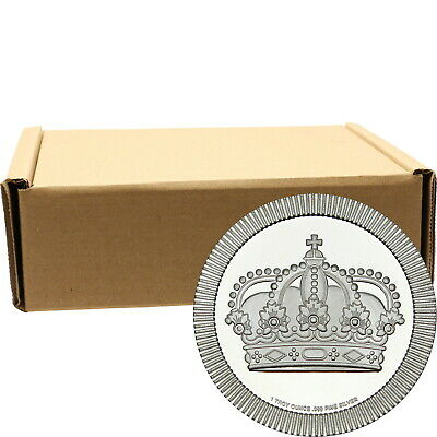 Crown Stackables 1oz .999 Silver Medallion in Tubes 500pc by SilverTowne