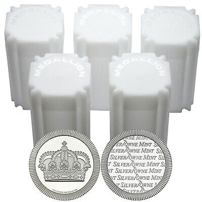 Crown Stackables 1oz .999 Silver Medallion in Tubes 100pc by SilverTowne