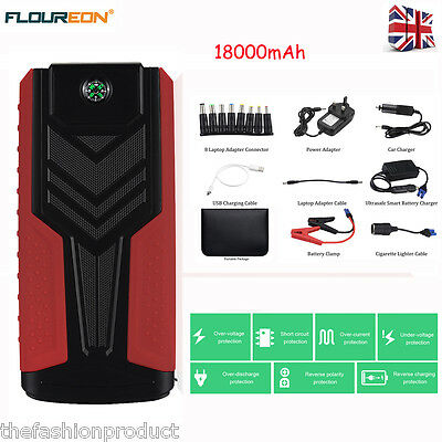 Portable 12000mAh Car Jump Starter Power Bank USB Battery Charger Pack Booster