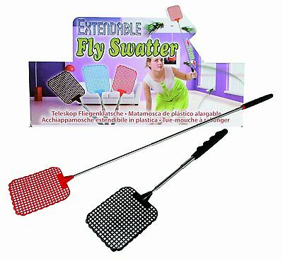Extendible Fly Swatter Bug Mosquito Zapper Handy Flies Control Racket-869026