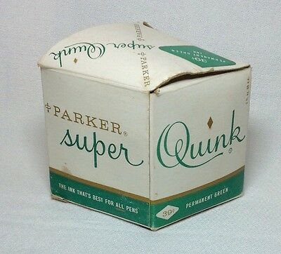 Parker Super Quink  Permanent Green Bottled Ink 2 oz. Bottle