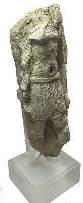 Ancient Egyptian Limestone Fragment of a figure Late Period, ca. 700 B.C.