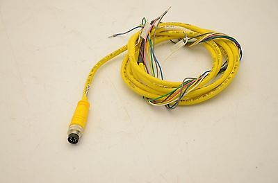 Turck BSM 7-086 7-Pole Cordset, Male 7-Pin Circular DIN to Bare Ends, 4M