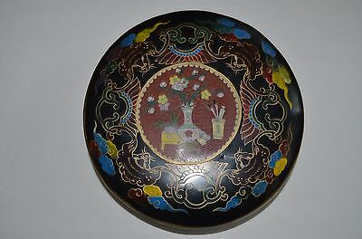 Chinese lacquer antique wooden box, decorated bat clouds and flowers,