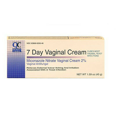Quality Choice 7-Day  Miconazole Nitrate Vaginal Cream 2% 1.59oz Each
