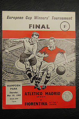 Atletico Madrid V Fiorentina 1962 European Cup Winners Cup Final