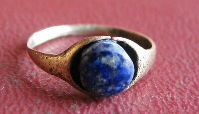 Ancient Artifact > 18th Century Bronze Finger Ring SZ: 3 US 14mm 14466 DR