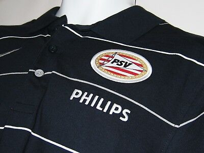 New NIKE  PSV EINDHOVEN Football Polo Shirt Cotton Navy Blue XL