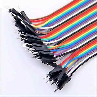 "Jumper wire Male to Female 40 Pin 2.54mm Coloured Ribbon Cable 20cm(8"")"