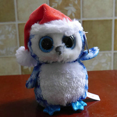 """ty beanies boos Owl Icicles stuffed animal toy mint 6"""""""
