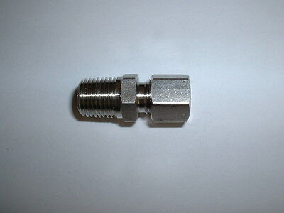 """0.25"""" (1/4"""") Bspt Stainless Steel Compression Gland For 6Mm Thermocouple Probes"""