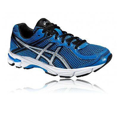 Asics GT-1000 4 GS Junior Blue Black Support Running Sports Shoes Trainers
