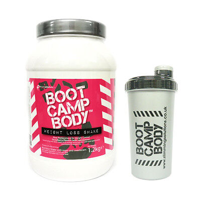 Boot Camp Slimming Diet Shakes Weight Loss VLCD Meal Replacement Drink + Shaker.