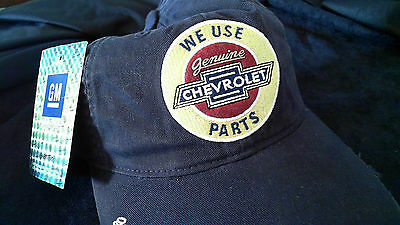 Kappe Cap Baseball Cap GM Chevrolet We use genuine Parts dunkelblau original