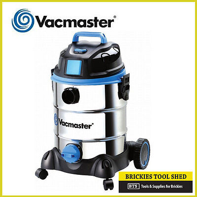 Vacmaster Wet & Dry Vacuum - 30 Litre Stainless Steel 1500W + Acc