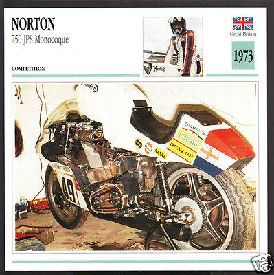 1973 Norton 750cc John Player Special JPS Monocoque Race Motorcycle Photo Card