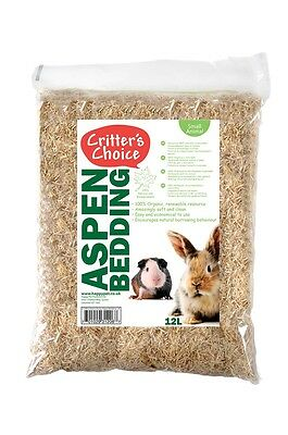Happy Pet Critters Choice Aspen Bedding Hamsters Gerbils Rats Mice Guinea Pigs