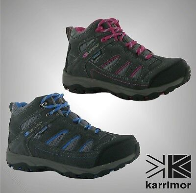 Juniors Boys Girls Karrimor Breathable Mount Mid Walking Shoes Boots Size 3-6