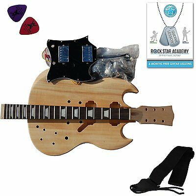 Stretton Payne Quality Electric Guitar SG - DIY Kit - Build Your Own Guitar