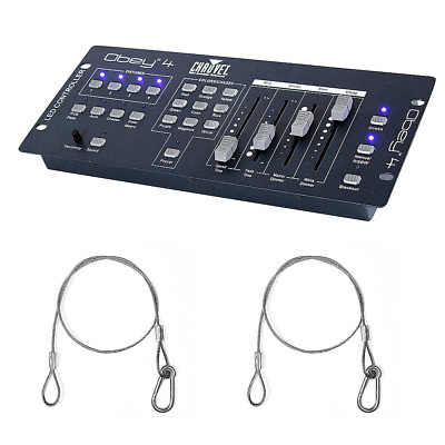 Chauvet DJ OBEY4 Compact DMX Controller Wash Lights Fixtures with 2 Harnesses