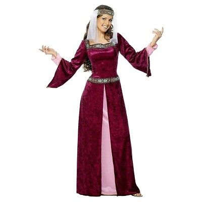 Maid Marion Costume Adult Medieval Renaissance Halloween Fancy Dress