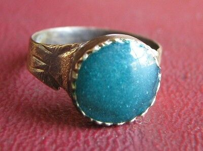 Ancient Artifact   19th Century Bronze Finger Ring SZ: 4 1/2 US 15.25mm 14462 DR