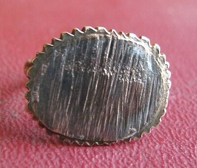 Ancient Artifact > 19th Century Bronze Finger Ring SZ: 5 US 15.75mm 14449 DR