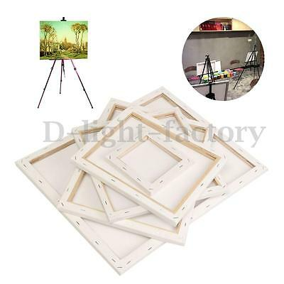 White Art Artist Oil Acrylic Painting Blank Square Canvas Board Wooden Frame