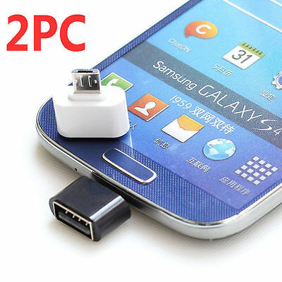 2 x……Micro USB Male to USB 2.0 Female Adapter OTG Converter For Android Tablet