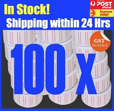 NEW PRICE GUN TAGS LABELS x 100 ROLLS