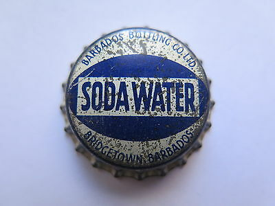 RARE CROWN SEAL BOTTLE CAP TOP SODA WATER by BARBADOS BOTTLING Co UNUSED