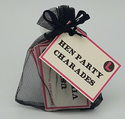 HEN PARTY CHARADES Game Hen Do Night Bride to be adult party