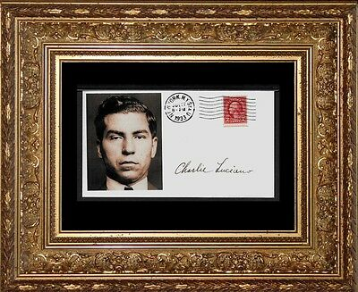 Lucky Luciano collector's envelope w original period stamp 82 years old! X655