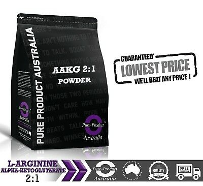 500g PURE AAKG L ARGININE ALPHA KETOGLUTARATE 2:1 POWDER PREWORKOUT