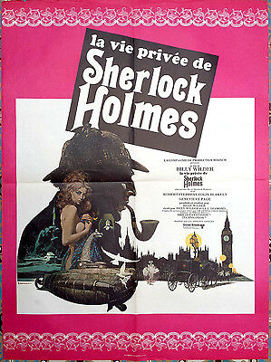 1970 THE PRIVATE LIFE OF SHERLOCK HOLMES Billy Wilder French 24x32 film poster