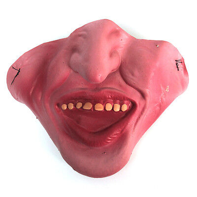 Funny Bruce Forsyth Half Face Mask BIG CHIN Fancy Dress Stag Strictly Cards Joke