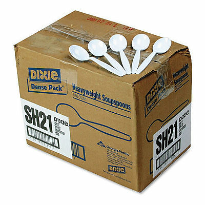 Dixie Plastic Cutlery, Heavyweight Soup Spoons, White -  1000/Carton