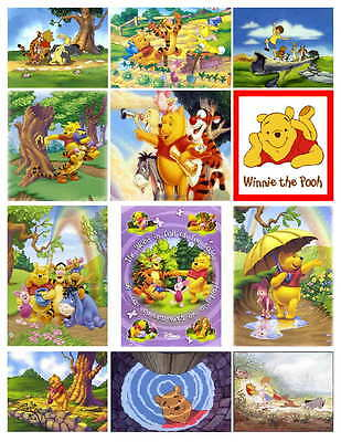 Winnie The Pooh 2 Photo-Fridge Magnets  12 Images