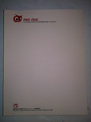 """Red Owl Grocery Store Green Bay Vintage Letterhead Stationery 8 1/2"""" X 11"""" New"""