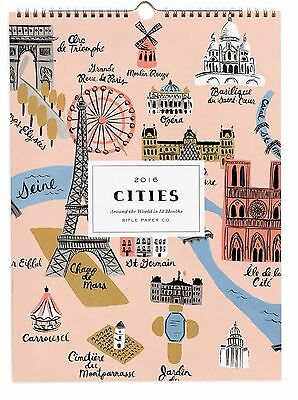 "New/Sealed 2016 Cities Wall Calendar (15"" x 11"") Rifle Paper Co"