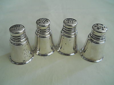 International Sterling Silver 4 Salt / Pepper Shakers