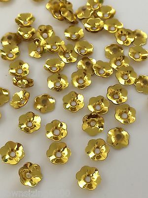 Sequins Flower Cup 6mm Gold Metallic Choose Pack Size