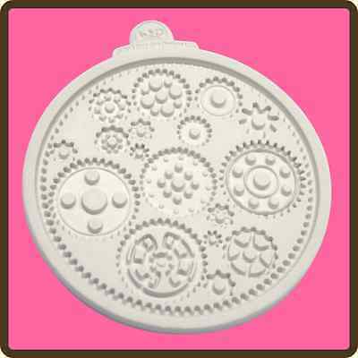 Katy Sue Cogs And Wheels Silicone Mould Cake Decorating Only £8.95 Free P&p