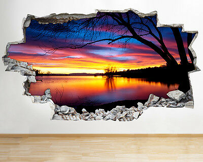 W041 Nebula Space Planets Earth Moon Wall Decal Poster 3D Art Stickers Vinyl Roo