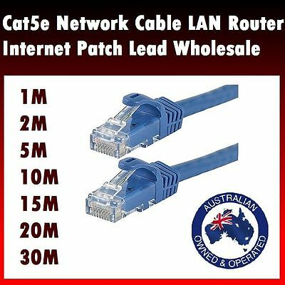 1m 2m 5m 15m 20m 30m Ethernet Network Cable LAN Router Internet Patch Lead CAT6