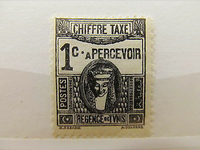 A1P15 TUNISIA POSTAGE DUE STAMP 1922-49 1c MH*