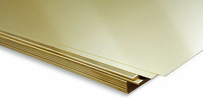CHEAP  0.5mm to 6mm Brass Sheet Plate guillotine Cut Metal Brass - Various Sizes