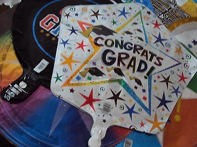 "Graduation mylar foil balloons 18""` your choice, 14 styles.  High school college"