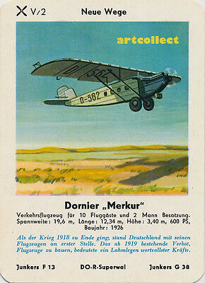 "Single Vintage German Game Card: Dornier ""Merkur"""